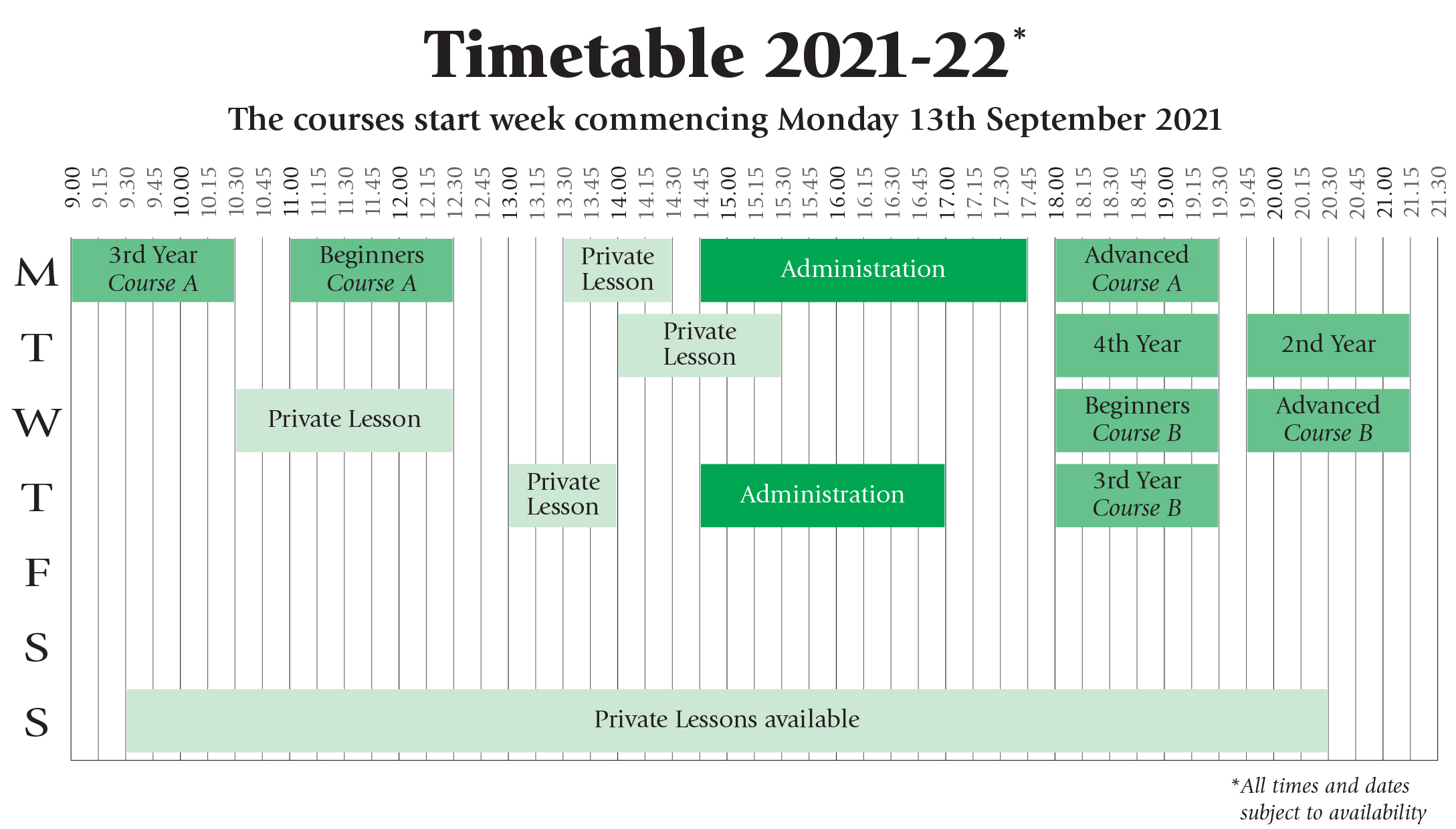ciao timetable 21 22